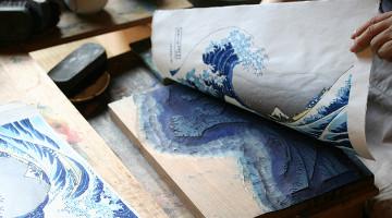 职人に学ぶ木版画教室実演图片
